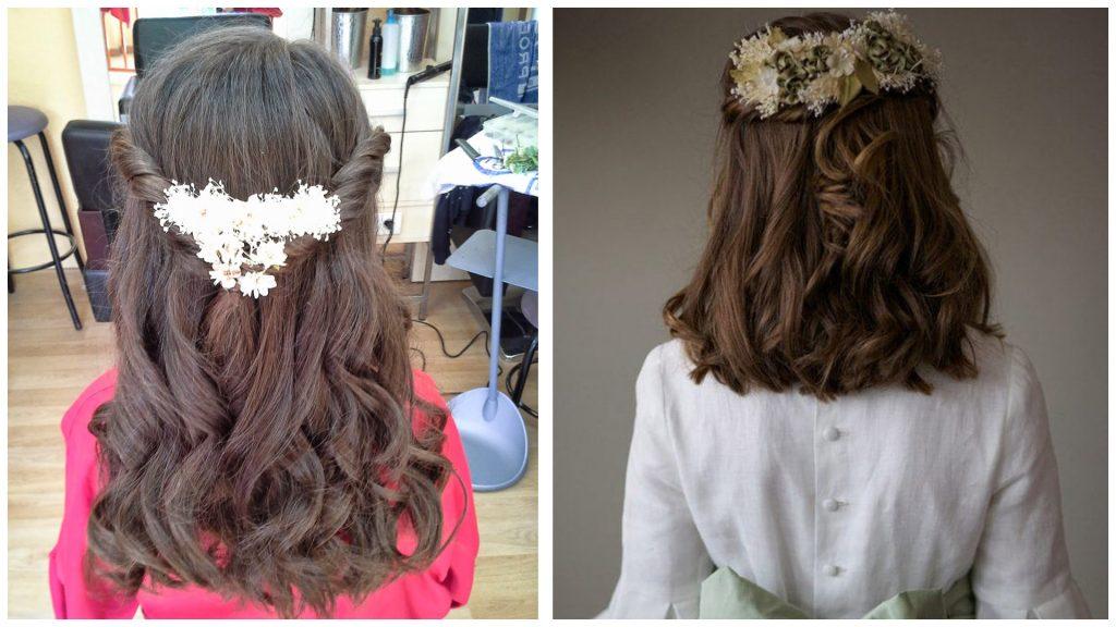 Fascinante peinados de comunión Imagen de tutoriales de color de pelo - Peinados de comunión Los mejores 8 peinados para una comunión