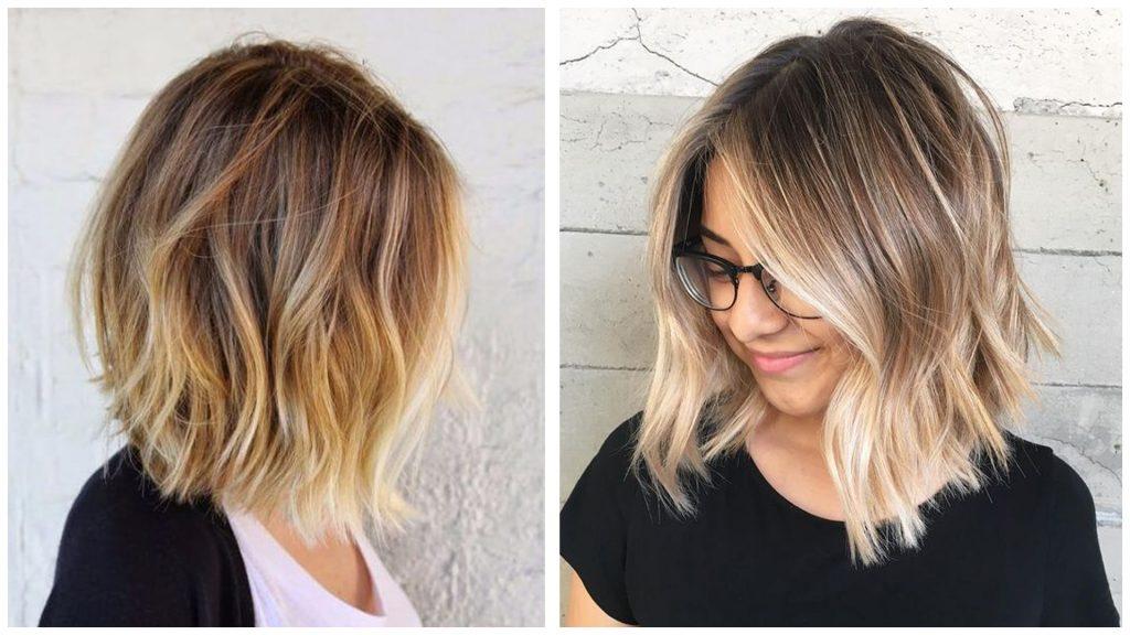 Mechas californianas blancas en pelo corto