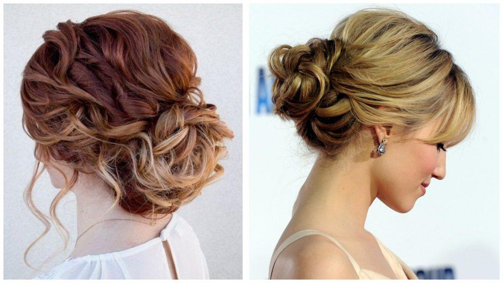 Peinados con cabello recogido y fleco