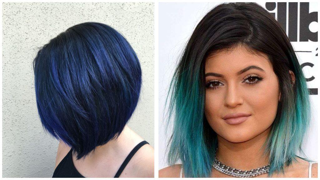 Pelo corto color turquesa