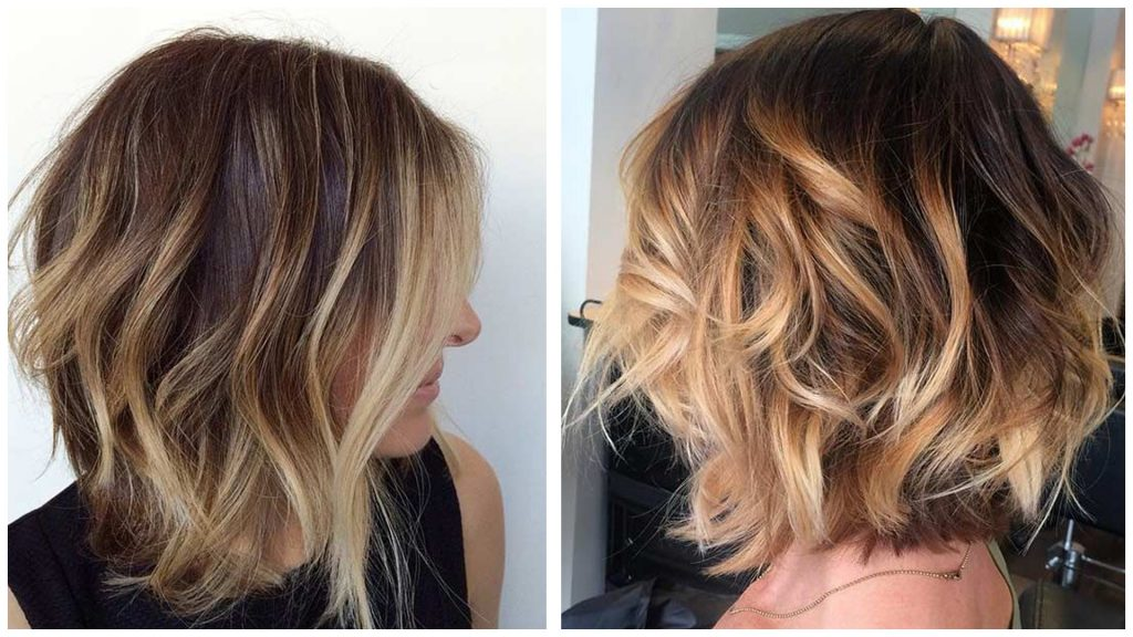 Mechas color manteca en pelo corto